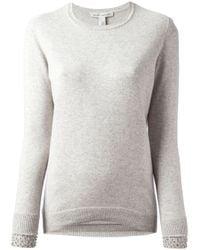 Autumn Cashmere Gray Beaded Cuff Sweater