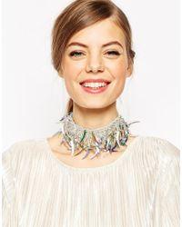 ASOS | Multicolor Sequin Choker Necklace | Lyst