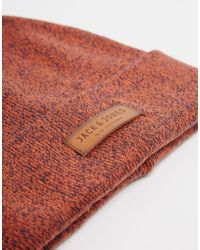 Jack & Jones | Red Knit Beanie for Men | Lyst