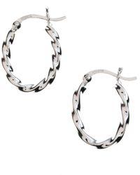 Lord & Taylor | Metallic Sterling Silver Twisted Hoop Earrings | Lyst