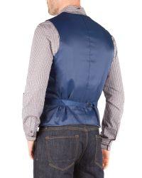 Racing Green Blue John Semi Plain Waistcoat for men
