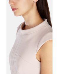 Karen Millen | Metallic Logo Stud Earring | Lyst