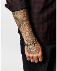 Icon Brand - Green East Liberty Skull Plaited Bracelet for Men - Lyst