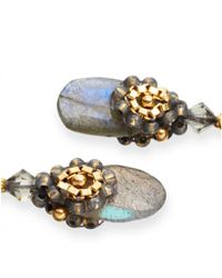 Miguel Ases | Yellow Labradorite Drop Earrings | Lyst