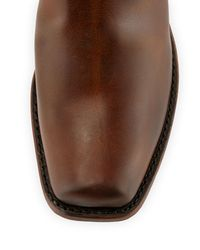 Frye Brown Cavalry Distressed Leather Riding Boot