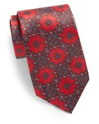 Burma Bibas | Red Grid Medallion-print Silk Tie for Men | Lyst
