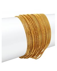 Erickson Beamon | Metallic Velvet Underground Multi-strand Chain Bracelet | Lyst