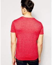 Hilfiger Denim | T-shirt With Crew Neck In Red for Men | Lyst