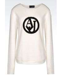 Armani Jeans | White T-shirt In Jersey | Lyst