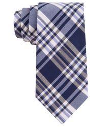 Calvin Klein - Blue Silk-Rich Plaid Tie for Men - Lyst