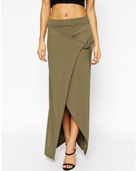 ASOS | Natural Tall Maxi Skirt With D-ring | Lyst