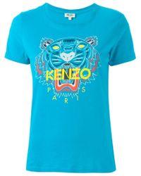 KENZO | Blue 'tiger' T-shirt | Lyst