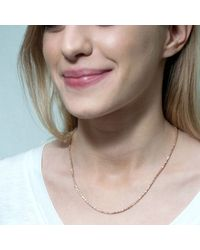 Tada & Toy - Metallic Spiny Lizard Chain Necklace Silver - Lyst
