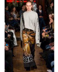Vetements Multicolor Star Girls Printed Canvas Skirt