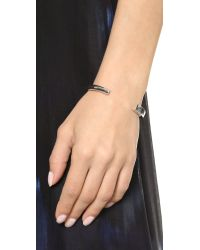 Elizabeth and James Metallic Serra Cuff Bracelet - Silver