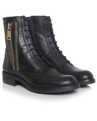 Inuovo Black Techie Triple Zip Boots