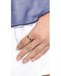 Ginette NY Metallic Baubles Small Bead Ring - Rose Gold/Black