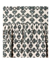 Tory Burch - Gray Matte Printed Dress - Lyst