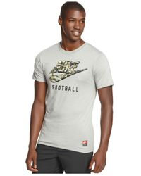 Nike - Gray Woodland Camo Swoosh T-shirt for Men - Lyst