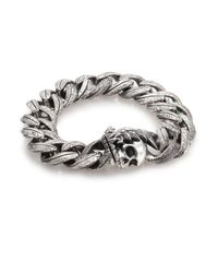 King Baby Studio | Metallic Large Feather Carved Link Bracelet | Lyst