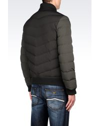 Armani Jeans | Green Down Jacket In Technical Fabric for Men | Lyst