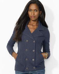 Ralph Lauren | Blue Lauren Double Breasted Jacket | Lyst