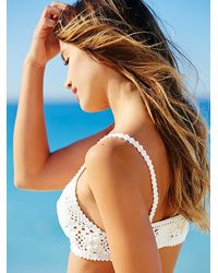 Free People | Natural Daisy Crop Bikini Top Daisy Cheeky Bottom | Lyst