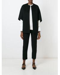 Michael Kors - Black Open-Front Wool Jacket - Lyst
