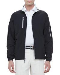 Peter Millar   Barcelona Waterproof Jacket Black for Men   Lyst