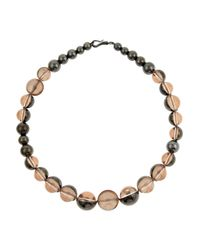 Bottega Veneta | Pink Sterling Silver Beaded Necklace | Lyst