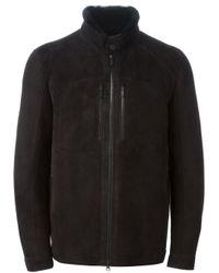 Zegna Sport Black Fur Lined Coat for men