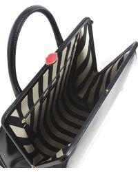 Lulu Guinness | Black Polished Leather Eva Backpack | Lyst