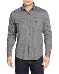 James Campbell | Black 'zahar' Regular Fit Sport Shirt for Men | Lyst