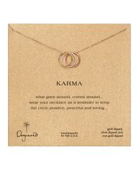 Dogeared | Multicolor Triple Karma Ring Necklace | Lyst