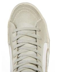 Golden Goose Deluxe Brand White Slide High-Top Leather Sneakers