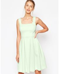 ASOS - Green Scuba Debutante Midi Dress - Lyst