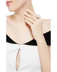 Nicholas Varney White South Sea Pearl And Diamond Vine Ring