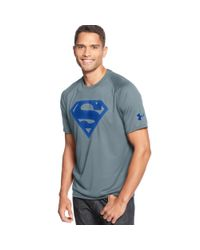Under Armour - Gray Alter Ego Superman Tshirt for Men - Lyst