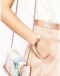 Ted Baker | White Leather Bow Bracelet | Lyst