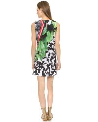 Clover Canyon - Multicolor Sequined Printed Chiffon Dress - Lyst
