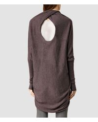 AllSaints | Gray Itat Shrug | Lyst
