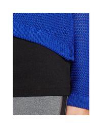 Ralph Lauren - Blue Cropped Cotton Sweater - Lyst