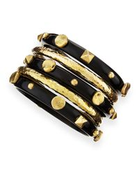 Ashley Pittman | Metallic Sura Dark Horn Bangles | Lyst