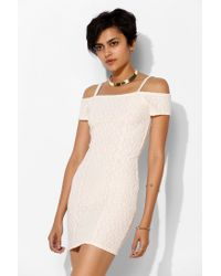Silence + Noise | Natural Silence Noise Lace Offtheshoulder Bodycon Dress | Lyst