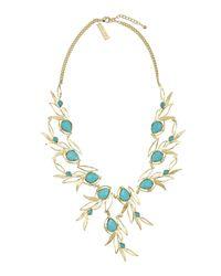 Kendra Scott Blue Magnolia Leaflink Necklace Turquoise