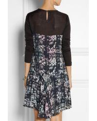 Tibi - Black Printed Crepe Dress - Lyst