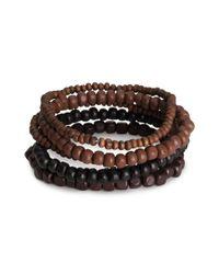 H&M Brown 6pack Bracelets for men