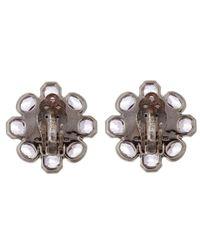 Stephen Dweck | Purple Silver Grey Moonstone Flower Stud Earrings | Lyst