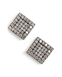 Freida Rothman | Metallic 'femme' Square Stud Earrings | Lyst