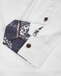 Ted Baker | White Deluxe Silk-blend Jacquard Shirt for Men | Lyst